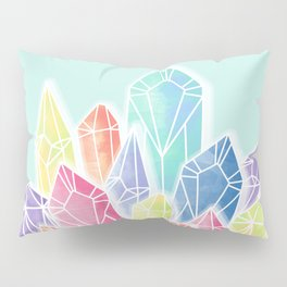 Crystals Green Pillow Sham