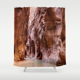 The Narrows Zion National Park Utah Shower Curtain