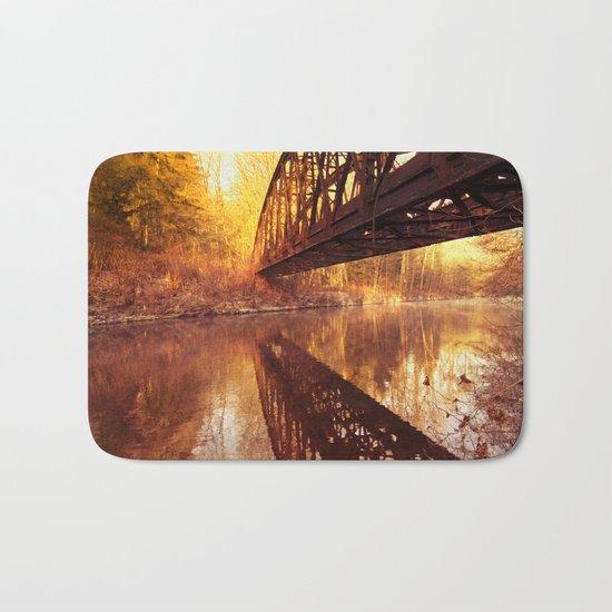 Rusty Old Bridge Bath Mat