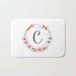 Floral Wreath - C Bath Mat