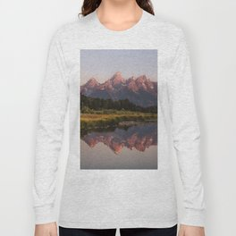 Morning in the Tetons Long Sleeve T-shirt