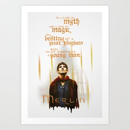 Merlin: Myth and Magic Art Print