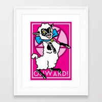 onward Framed Art Prints featuring Onward! by Sellergren Design - Art is the Enemy