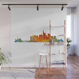 Frankfurt am Main, City Skyline, Citiscae art watercolor V1 Wall Mural
