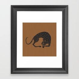 Blockprint Cheetah Framed Art Print