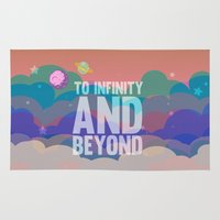 toy story Area & Throw Rugs featuring to infinity and beyond.. toy story.. buzz lightyear by studiomarshallarts