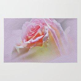 Delicate Soft Pink Rose Rug