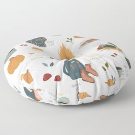 Hello Autumn Floor Pillow