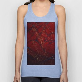 Red, Blue and Gold Spatter Unisex Tank Top