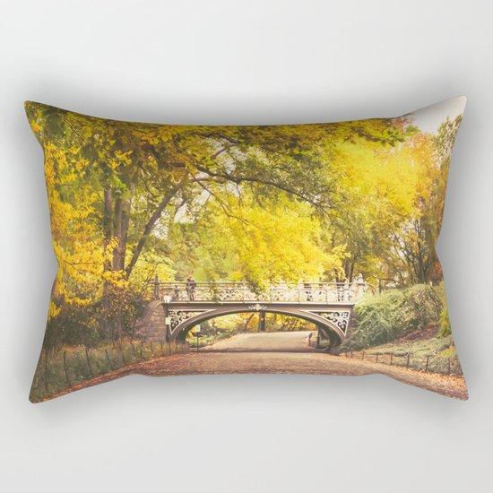 Autumn Path - Central Park - New York City Rectangular Pillow