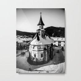 The Katholikon at Putna Monastery, Romania Metal Print