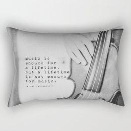 Music Quote Rachmaninov Rectangular Pillow