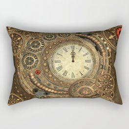 Steampunk, clockwork Rectangular Pillow
