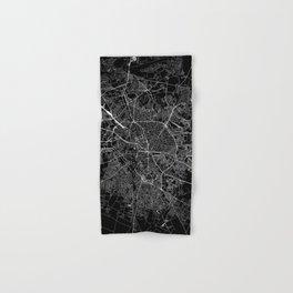 Bucharest Black Map Hand & Bath Towel