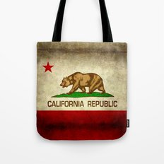 California Republic Retro Flag Tote Bag