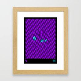 Stereo Sound - Green Framed Art Print