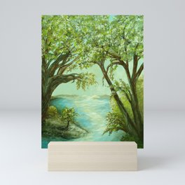 View from the River Bank Mini Art Print
