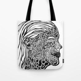 Emerging Face Tote Bag