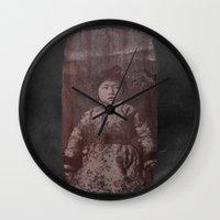 fear Wall Clocks featuring Fear by Last Call