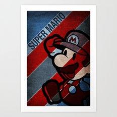 SUPER MARIO Art Print