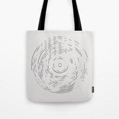 Record Black and White Tote Bag