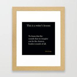 Writer's lesson Framed Art Print
