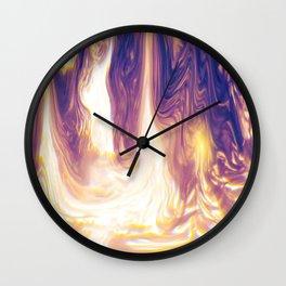 """Foil Liquified"" Wall Clock"