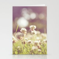 clover Stationery Cards featuring Clover by laughlovephoto