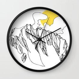 Golden Rocky Ridge Wall Clock