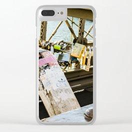 Love Locked in Brooklyn Clear iPhone Case