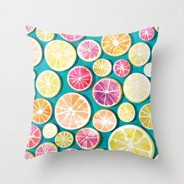 Citrus bath Throw Pillow