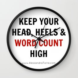Keep Your Word Count High Wall Clock