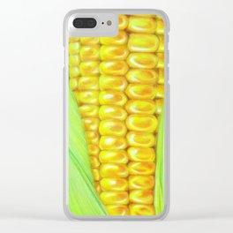 Color pencil Corn Clear iPhone Case