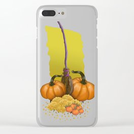 Autumn Time Clear iPhone Case