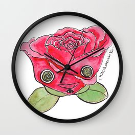 """Oro?"" Valentine's Rose Wall Clock"
