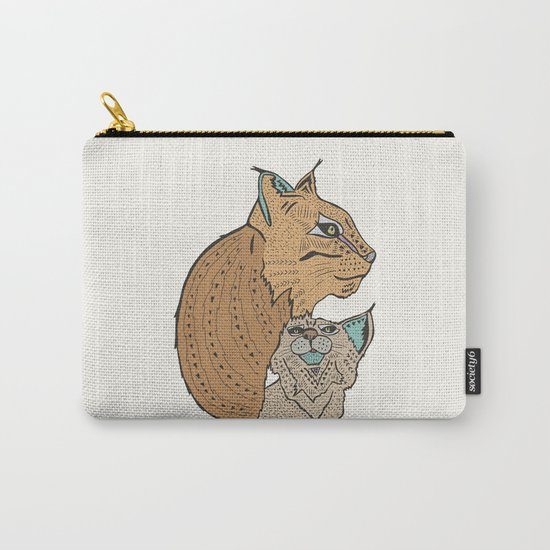 Mama And Baby Lynx Carry-All Pouch