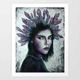 Crystal queen Art Print