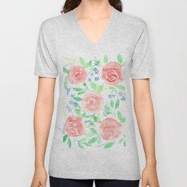 Floral Bouquet Unisex V-Neck