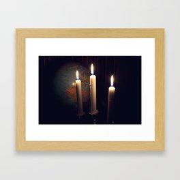 Dreaming in december Framed Art Print