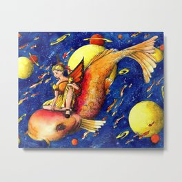Fishy ride Metal Print