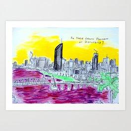 BRISBANE POSTCARD SERIES 006 Art Print