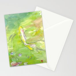 Small Koi Pond 8 Stationery Cards