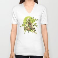 asian V-neck T-shirts featuring Asian spring by Tshirt-Factory