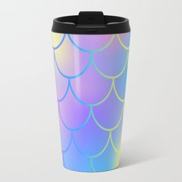 Turquoise Purple Mermaid Travel Mug