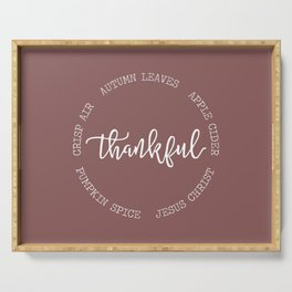 Thankful for Jesus and Autumn Serving Tray