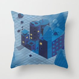 Sunken town Throw Pillow