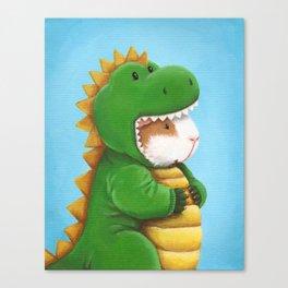 Guinea Pig in a Dinosaur Costume - Peegosaurus Rex Canvas Print