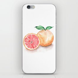 Watercolour Grapefruit iPhone Skin