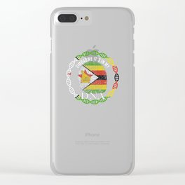 Zimbabwe Its In My DNA Clear iPhone Case