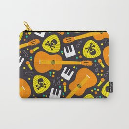 Vector Seamless Pattern Music Instruments Carry-All Pouch
